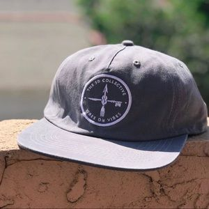 BRAND NEW grey unstructured SnapBack surf dad hat